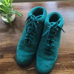Vintage Keds teal high top